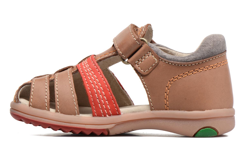 Sandalen Kickers Platiback beige ansicht von vorne