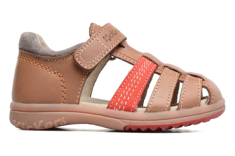 Sandalen Kickers Platiback Beige achterkant