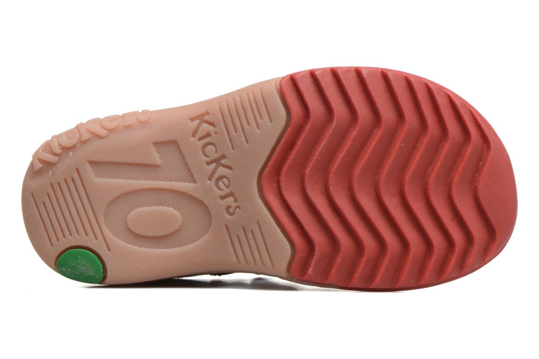 Sandalen Kickers Platiback beige ansicht von oben