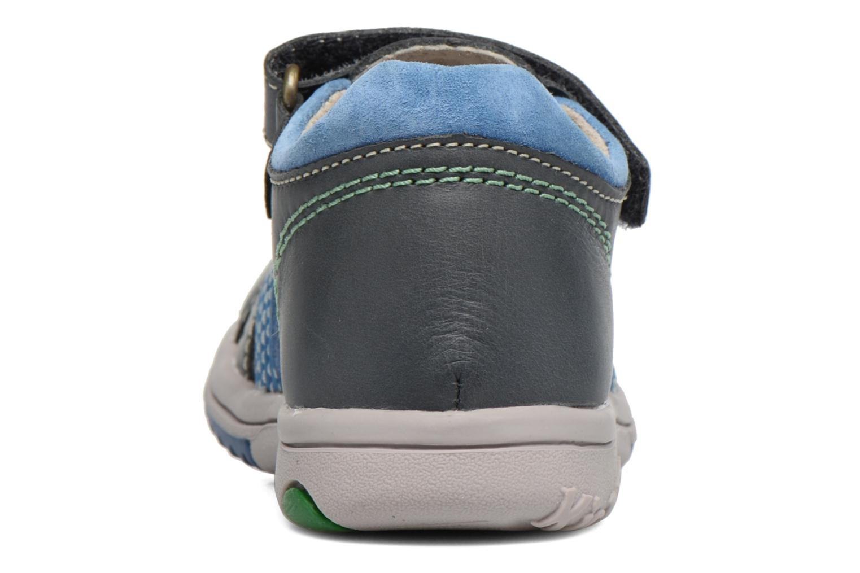 Sandali e scarpe aperte Kickers Platiback Azzurro immagine destra