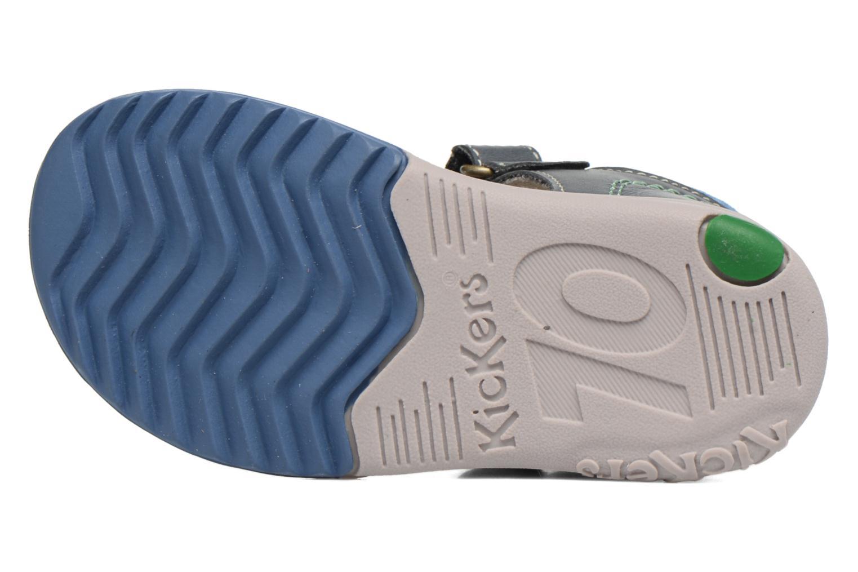 Sandali e scarpe aperte Kickers Platiback Azzurro immagine dall'alto