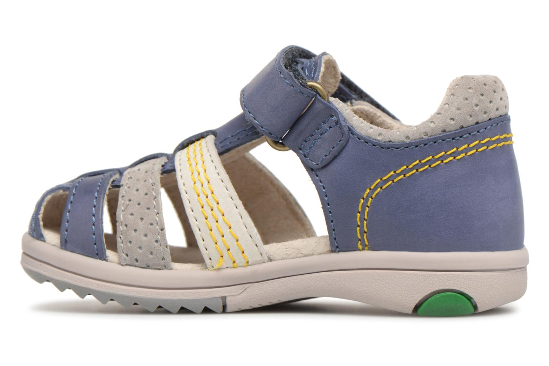 Sandales et nu-pieds Kickers Platiback Bleu vue face