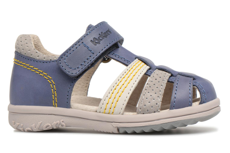 Sandalen Kickers Platiback Blauw achterkant