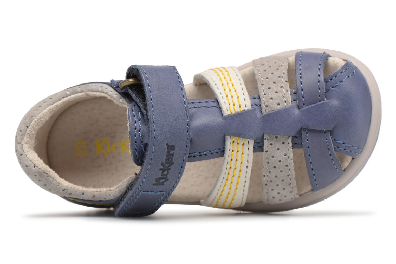 Sandales et nu-pieds Kickers Platiback Bleu vue gauche