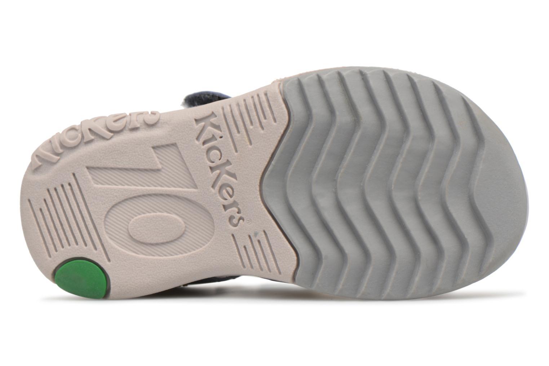 Sandales et nu-pieds Kickers Platiback Bleu vue haut
