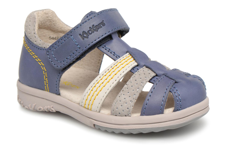 Sandales et nu-pieds Kickers Platiback Bleu vue détail/paire