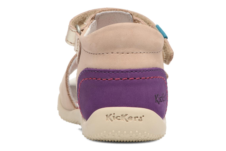 Sandales et nu-pieds Kickers Bihilana Beige vue droite