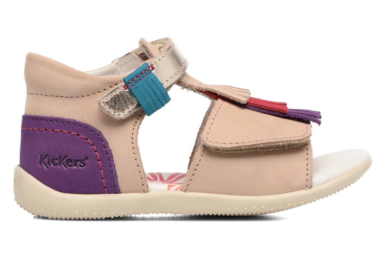 Sandales et nu-pieds Kickers Bihilana Beige vue derrière