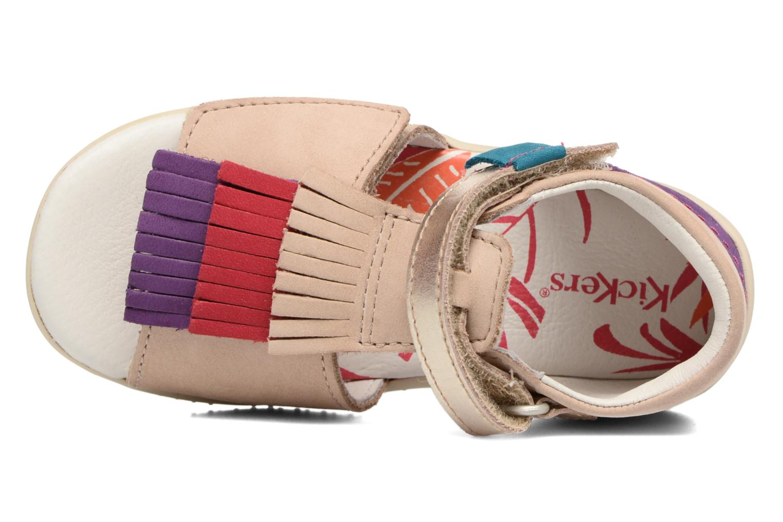 Sandali e scarpe aperte Kickers Bihilana Beige immagine sinistra