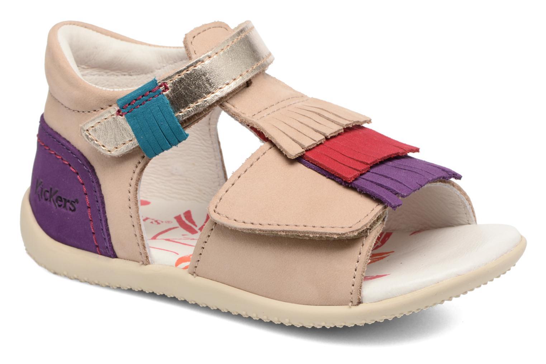 Sandales et nu-pieds Kickers Bihilana Beige vue détail/paire