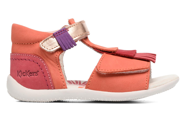 Sandalen Kickers Bihilana rosa ansicht von hinten