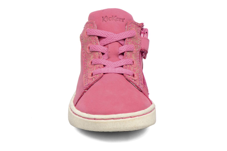 Sneakers Kickers Lylou Pink se skoene på