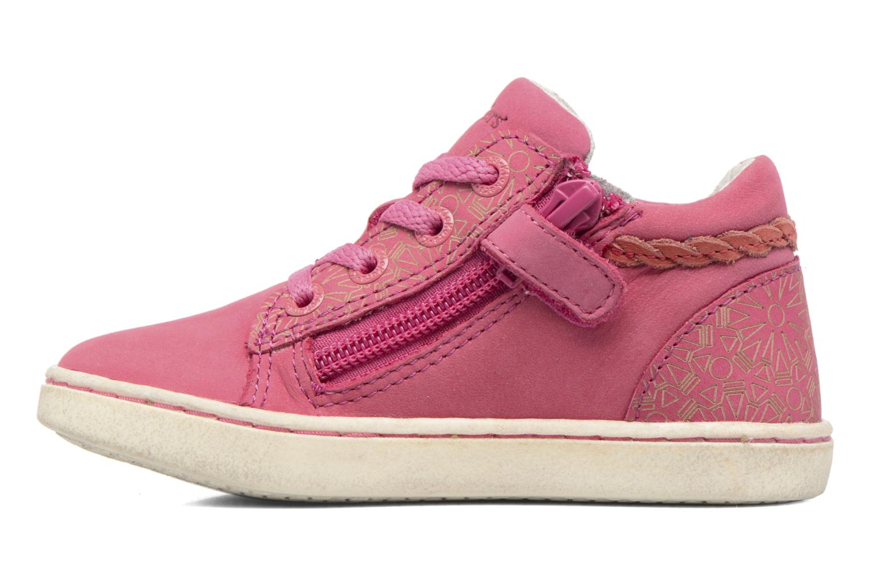 Sneakers Kickers Lylou Pink se forfra