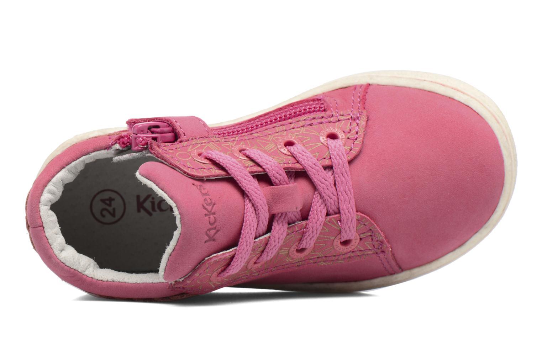 Sneakers Kickers Lylou Pink se fra venstre