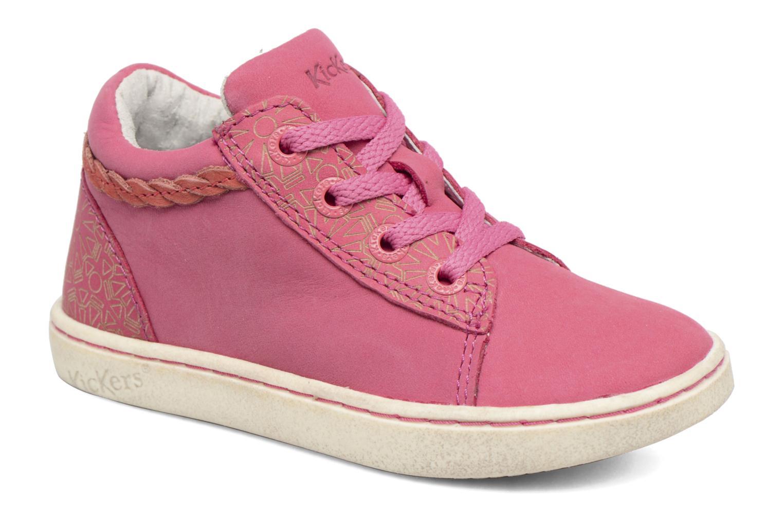 Sneakers Kickers Lylou Pink detaljeret billede af skoene