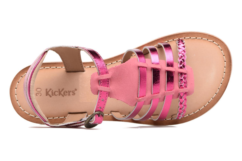 Sandales et nu-pieds Kickers Diwen Rose vue gauche