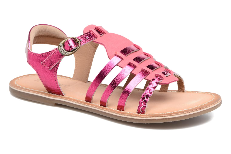 Sandales et nu-pieds Kickers Diwen Rose vue détail/paire