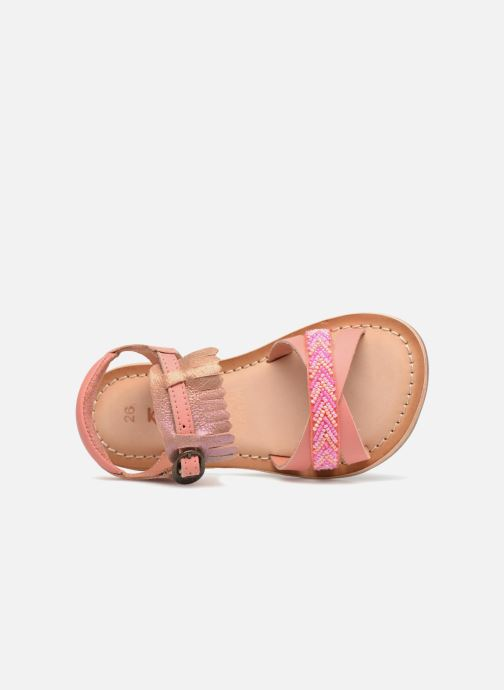 Sandali e scarpe aperte Kickers Dixie Rosa immagine sinistra