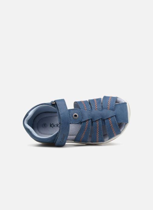 Sandalen Kickers Solaz Blauw links