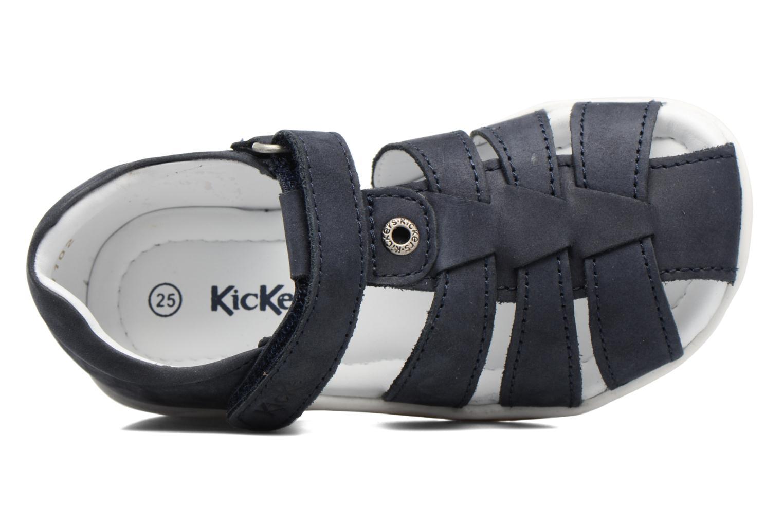 Sandalias Kickers Solaz Azul vista lateral izquierda