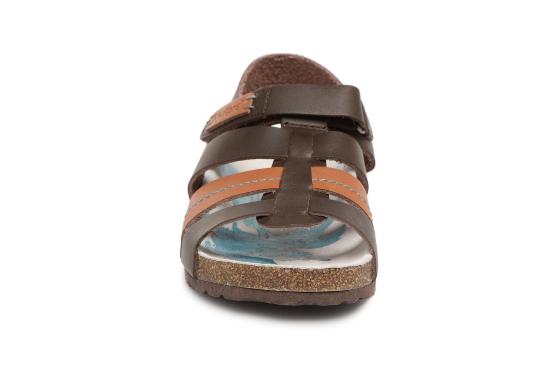 Sandales et nu-pieds Kickers Magiteam Marron vue portées chaussures