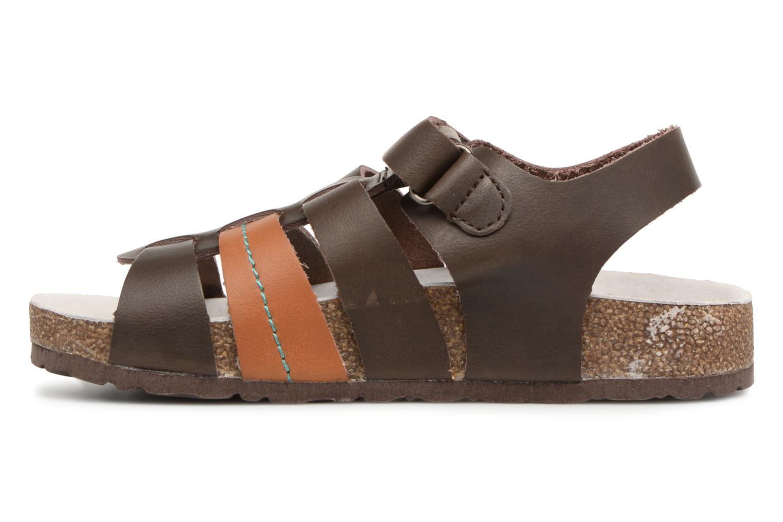 Sandales et nu-pieds Kickers Magiteam Marron vue face