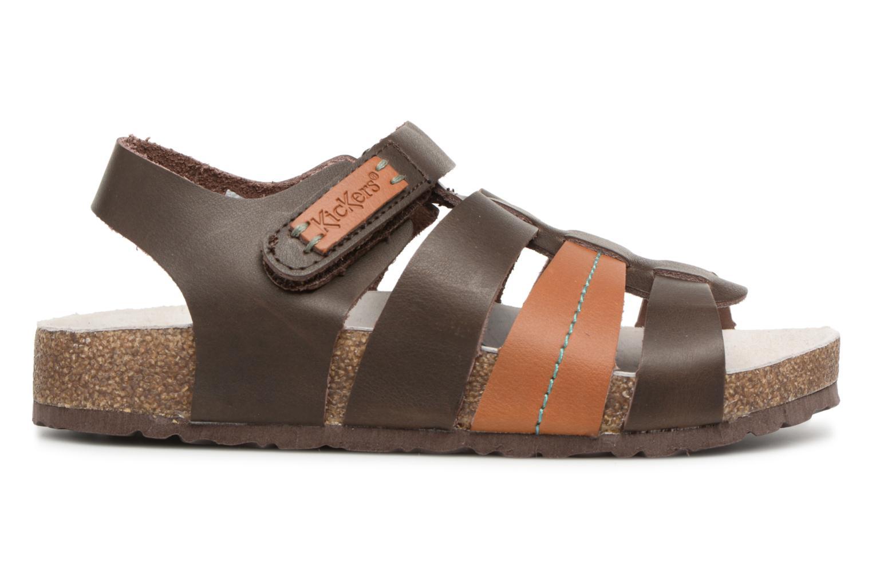 Sandales et nu-pieds Kickers Magiteam Marron vue derrière