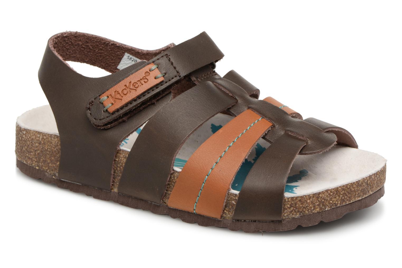 Sandaler Kickers Magiteam Brun detaljeret billede af skoene