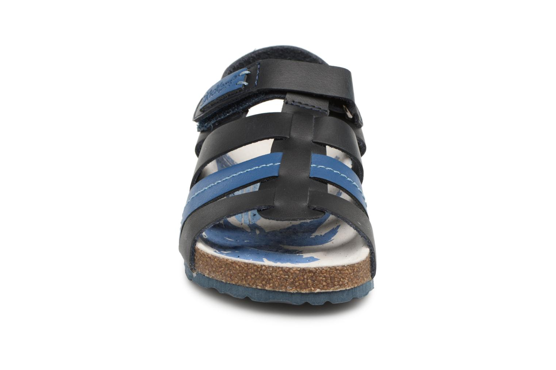 Sandalen Kickers Magiteam blau schuhe getragen
