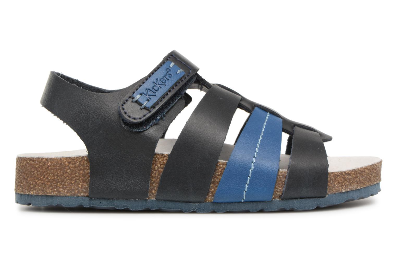 Sandalen Kickers Magiteam blau ansicht von hinten