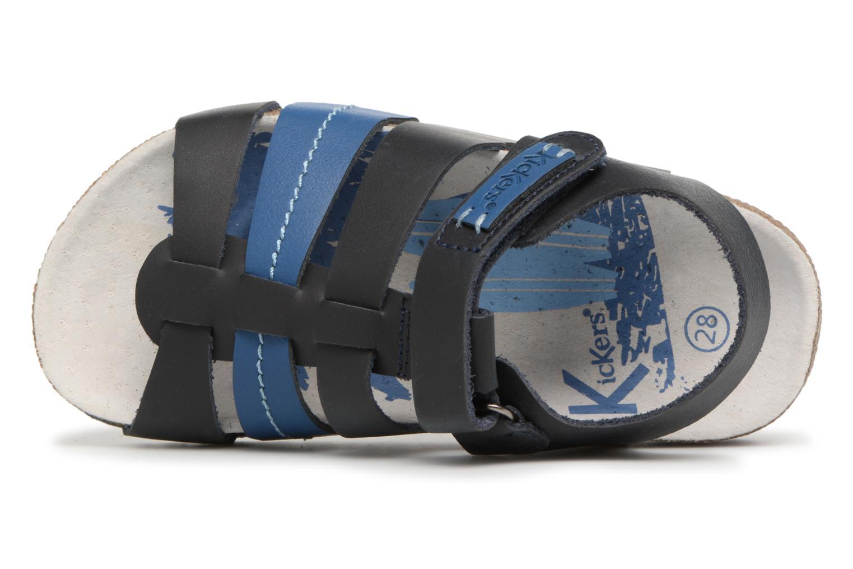 Sandalen Kickers Magiteam blau ansicht von links