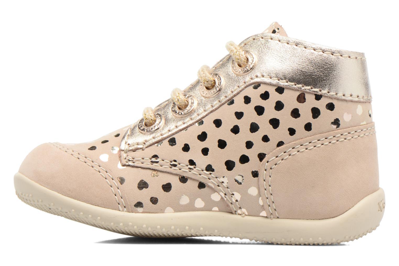 Chaussures à lacets Kickers Boetik Beige vue face