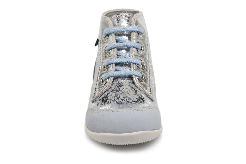 Schnürschuhe Kickers Boetik blau schuhe getragen
