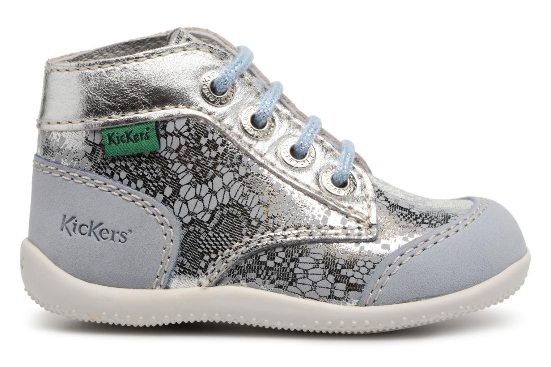 Zapatos con cordones Kickers Boetik Azul vistra trasera