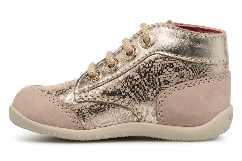 Zapatos con cordones Kickers Boetik Beige vista de frente