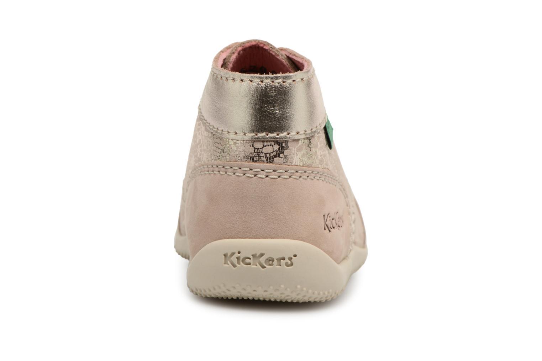 Zapatos con cordones Kickers Boetik Beige vista lateral derecha