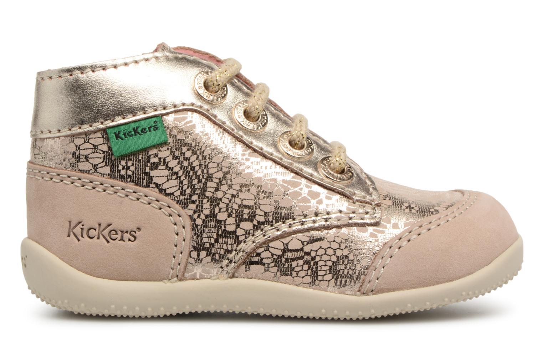 Zapatos con cordones Kickers Boetik Beige vistra trasera