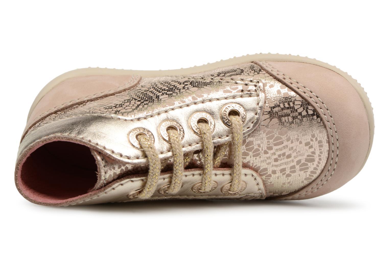 Zapatos con cordones Kickers Boetik Beige vista lateral izquierda