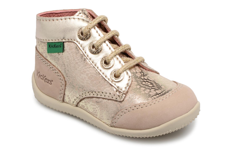 Zapatos con cordones Kickers Boetik Beige vista de detalle / par