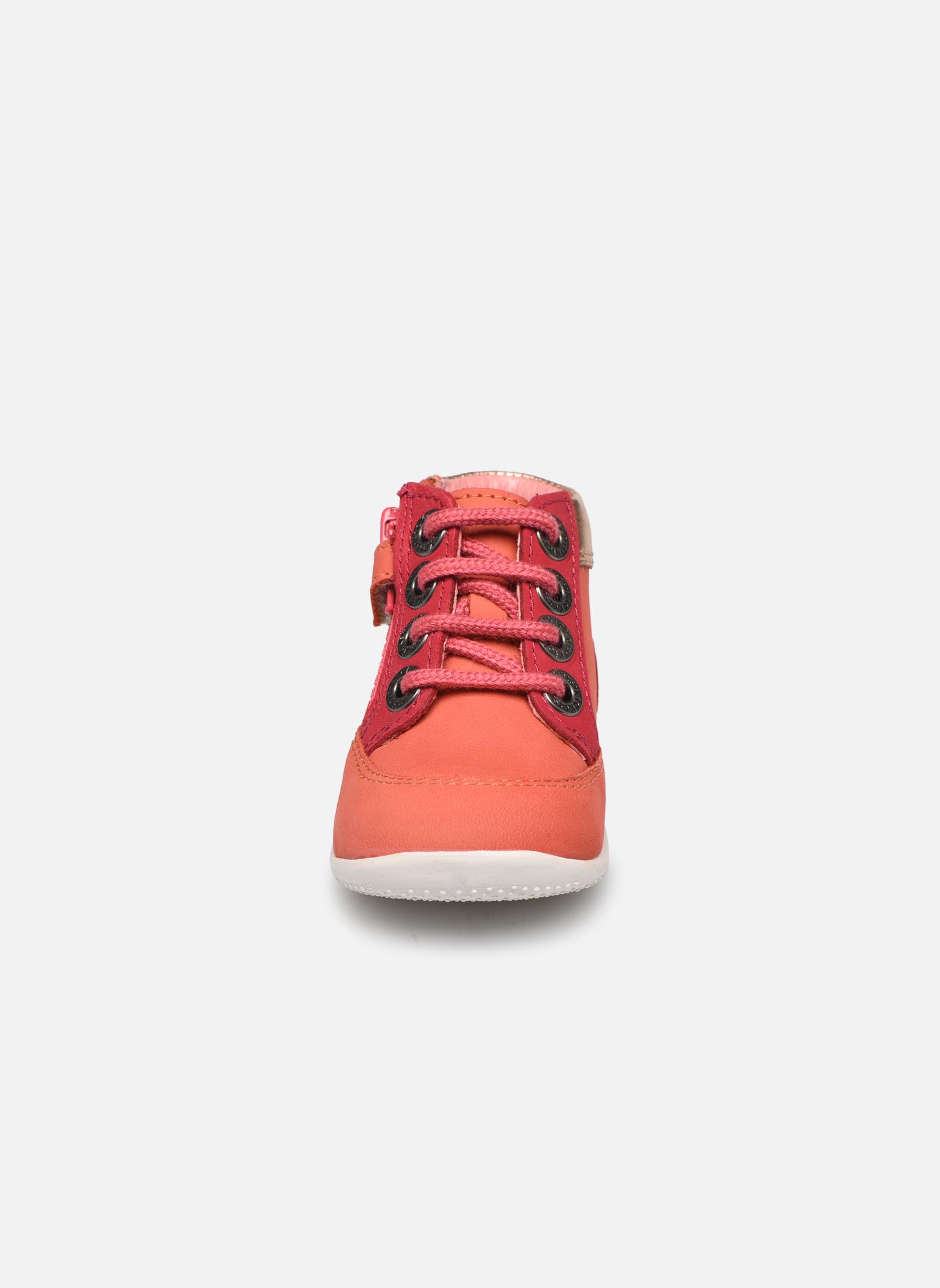Schnürschuhe Kickers Biflorid orange schuhe getragen