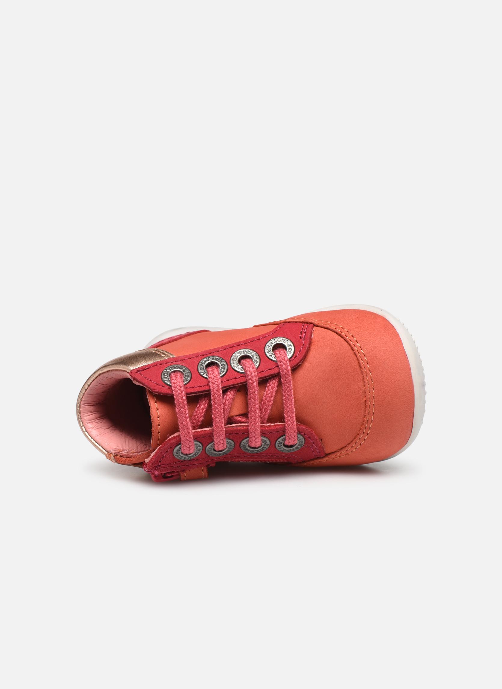 Schnürschuhe Kickers Biflorid orange ansicht von links