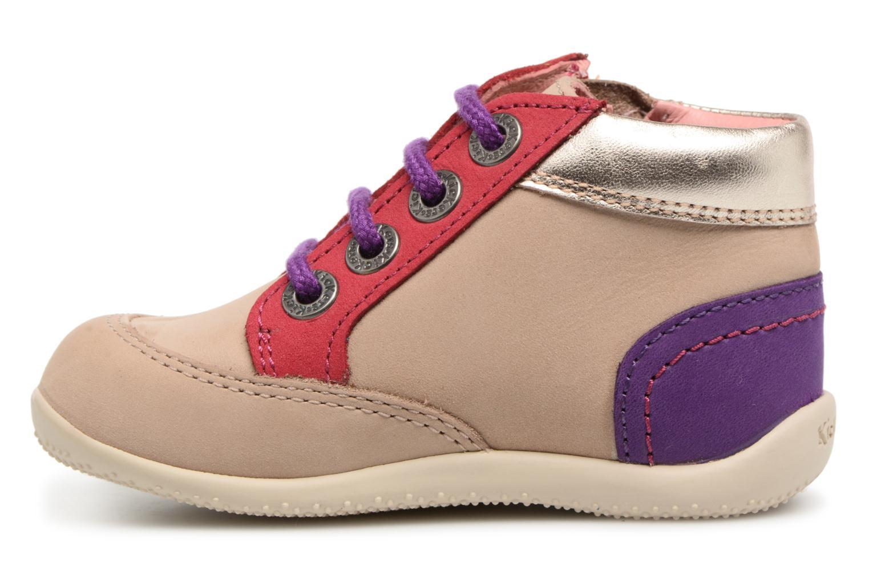 Chaussures à lacets Kickers Biflorid Beige vue face