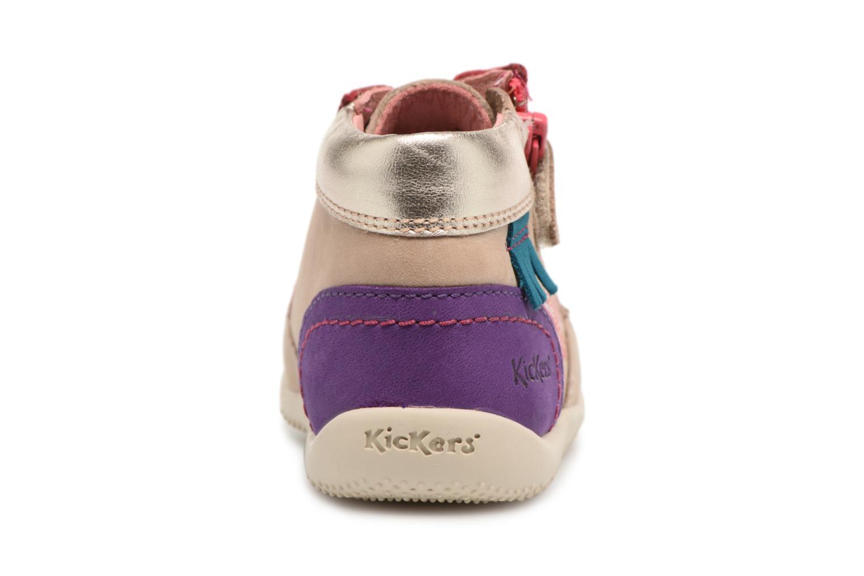 Chaussures à lacets Kickers Biflorid Beige vue droite
