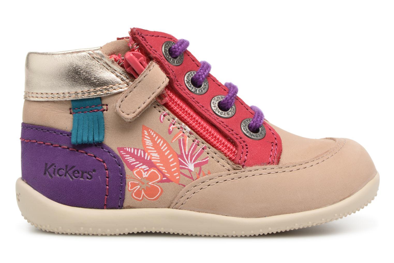 Chaussures à lacets Kickers Biflorid Beige vue derrière