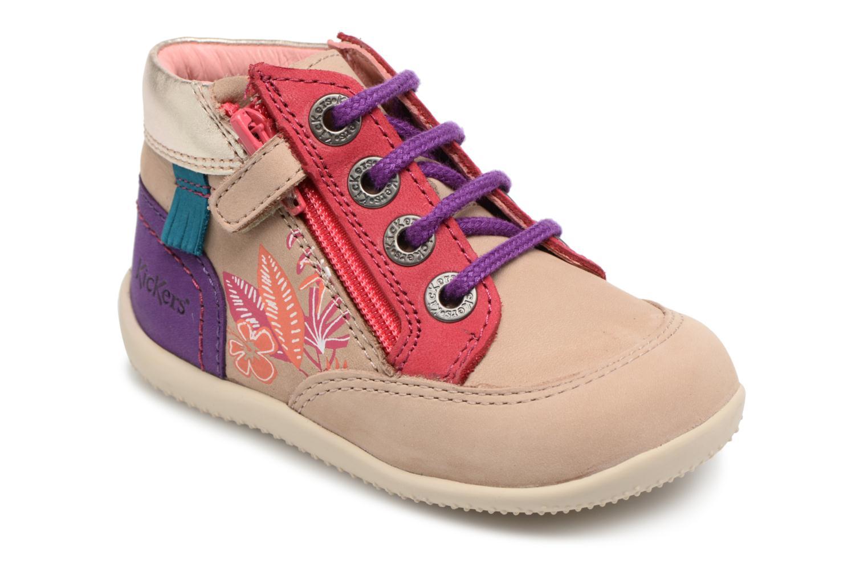 Chaussures à lacets Kickers Biflorid Beige vue détail/paire