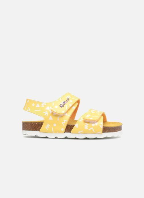 Sandales et nu-pieds Kickers Summerkro Jaune vue derrière
