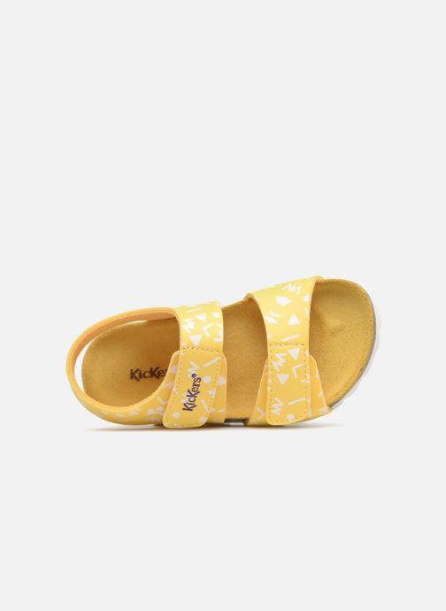 Sandales et nu-pieds Kickers Summerkro Jaune vue gauche