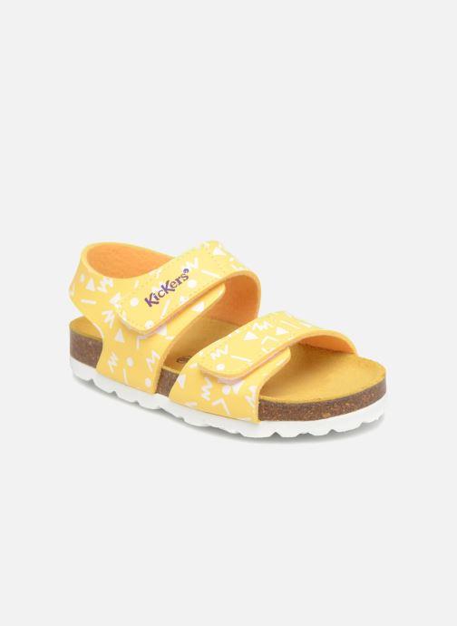 Sandales et nu-pieds Kickers Summerkro Jaune vue détail/paire