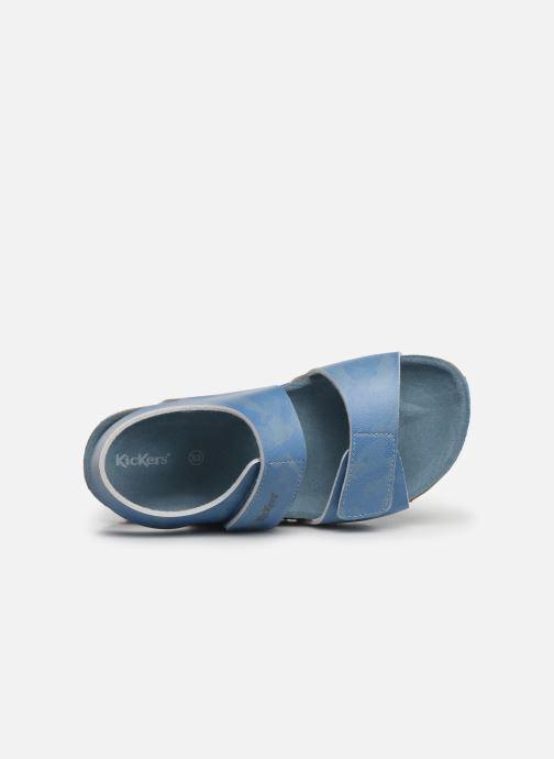 Sandales et nu-pieds Kickers Summerkro Bleu vue gauche