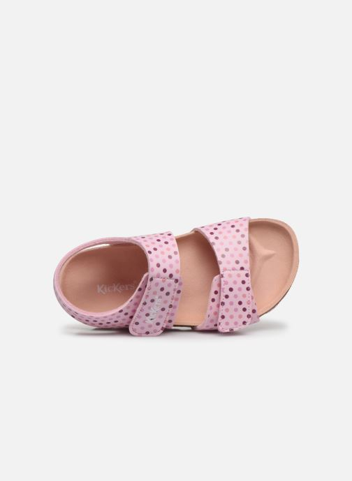 Sandales et nu-pieds Kickers Summerkro Rose vue gauche